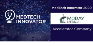 Graphic for Moray Medical's award as a MedTech Innovator